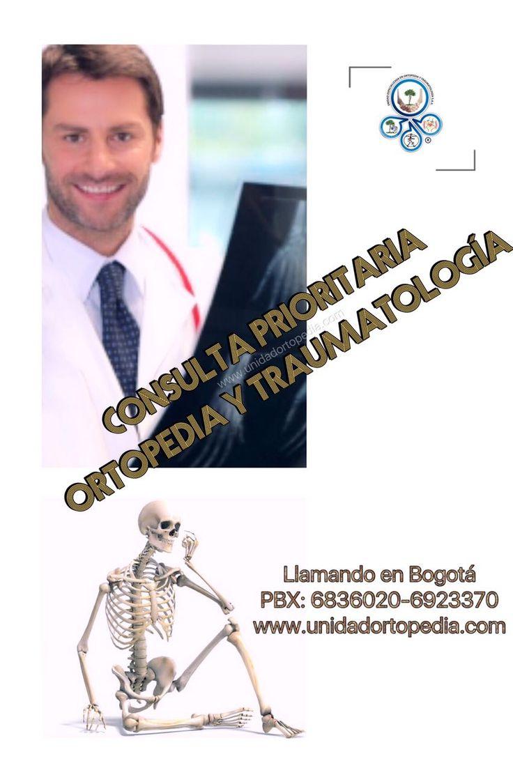 Consulta particular en la Unidad Especializada en Ortopedia y Traumatologia www.unidadortopedia.com PBX: 6923370 Bogotá, Colombia.