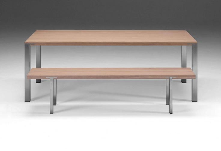 mooie strakke tafel hout - Naver Deens fabrikaat