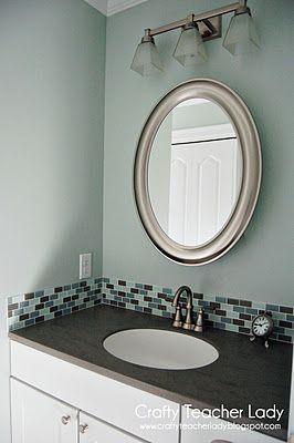 46 tile backsplash in your bathroom paint with some type - Backsplash In Bathroom