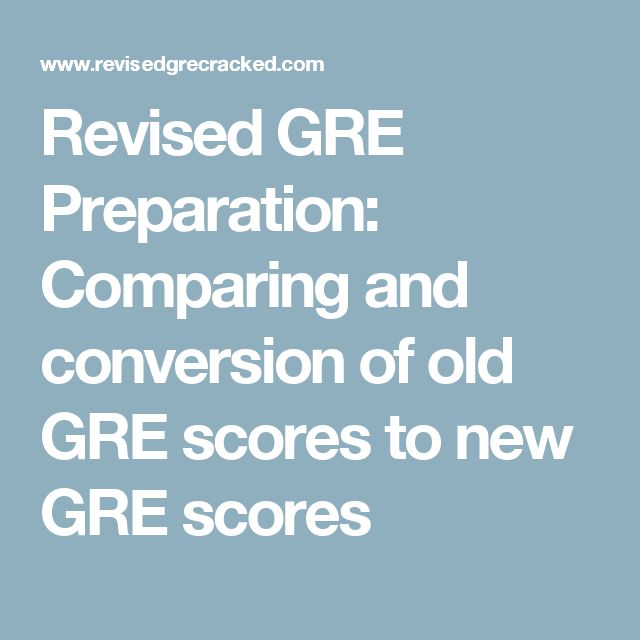 Revised GRE Preparation: Comparing and conversion of old GRE scores to new GRE scores