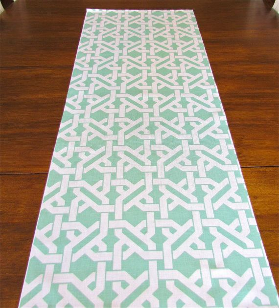 MINT TABLE RUNNER 13 x 72 Wedding Shower Table Runners Mint Green Decorative Table Cloth Holiday Party Table Runners on Etsy, $26.95