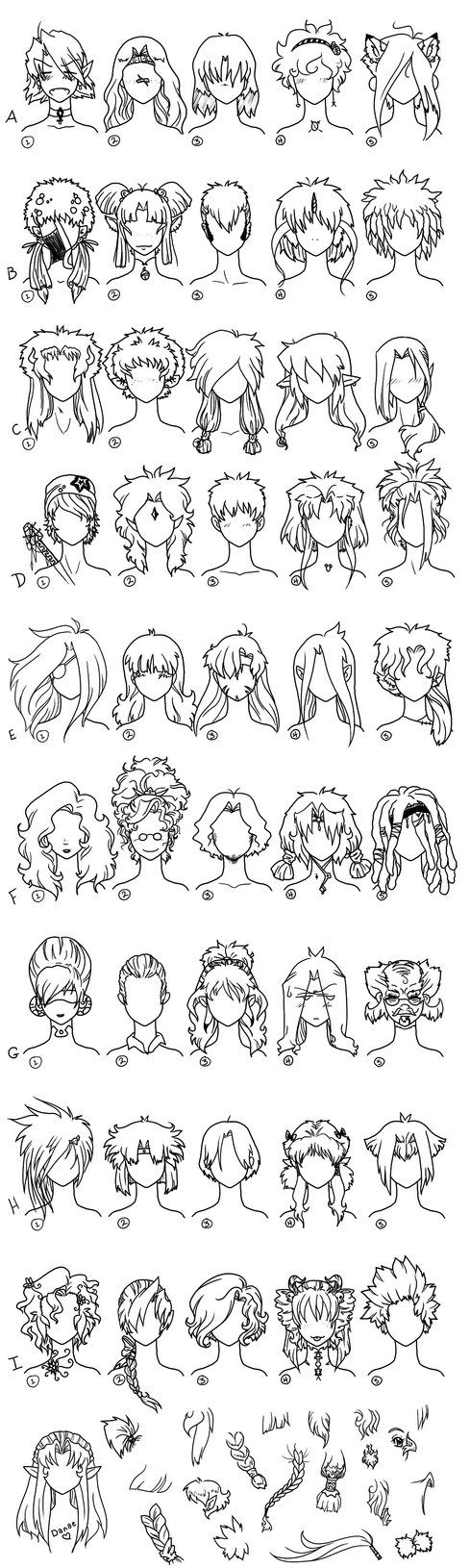Hair Reference Page 1 by ~Frenehld on deviantART