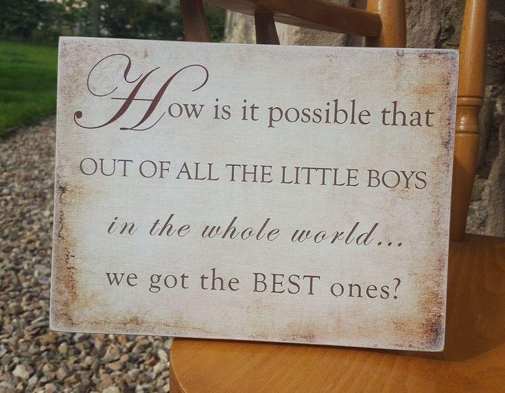 Of all little boys we got best, family, children HANDMADE plaque - beige NO NAME