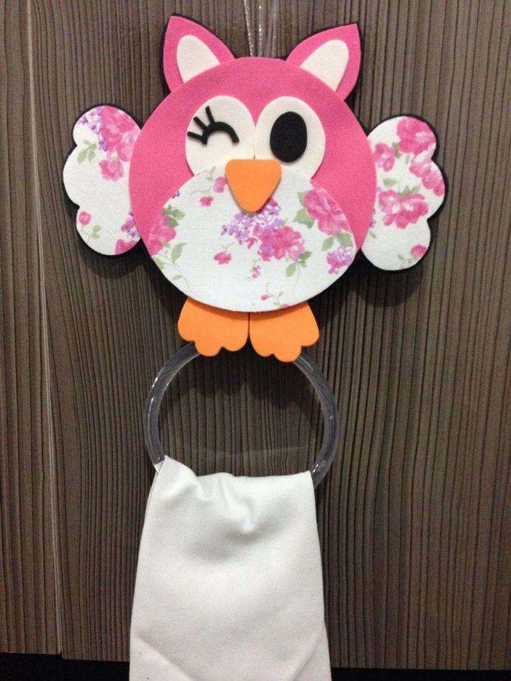 Aparador Hall De Entrada Apartamento ~ porta pano de prato coruja artesanato em EVA Pinterest