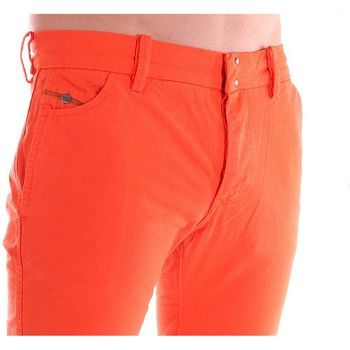 Pantalons Diesel Pantalon en toile chino slim fit orange Chi Regs homme Orange 350x350