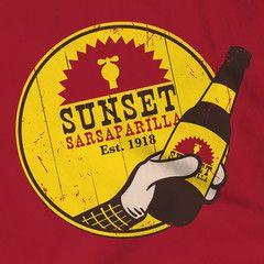 Sunset Sarsaparilla T-shirt by GamerPrint