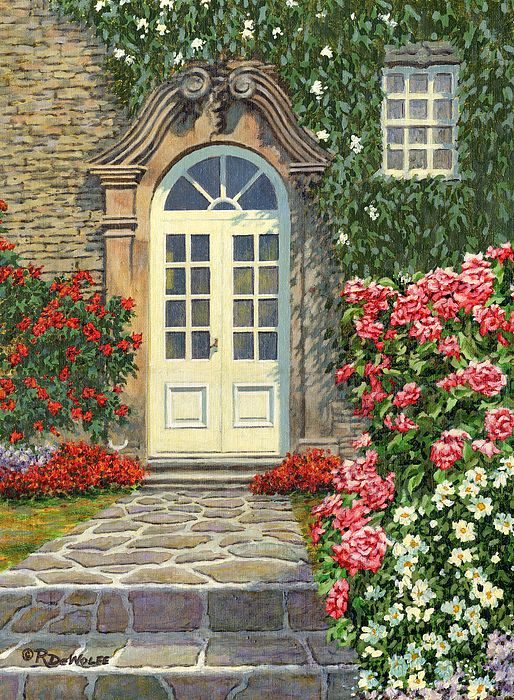 The White Door Painting by Richard De Wolfe
