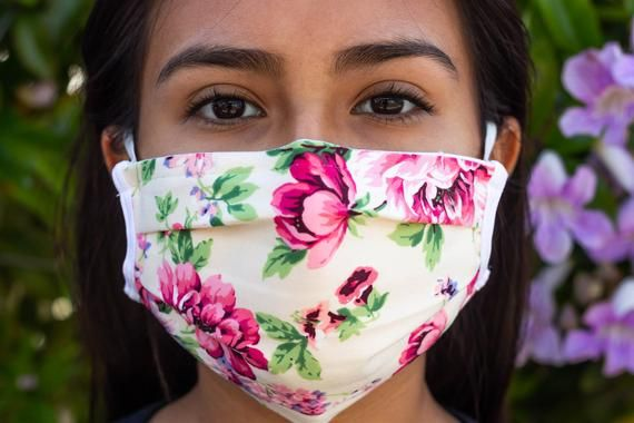 Pretty Ladies Muti Flower Face Cover