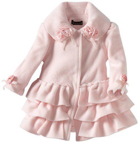 Amazon.com: Kate Mack Baby-Girls Newborn Left Bank Ruffle Coat, Pink, 0-6 Months: Clothing