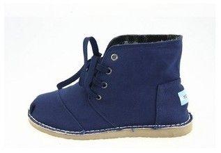 Womens Discount Toms Desert Botas Shoes in Blue : toms outlet, your description $17