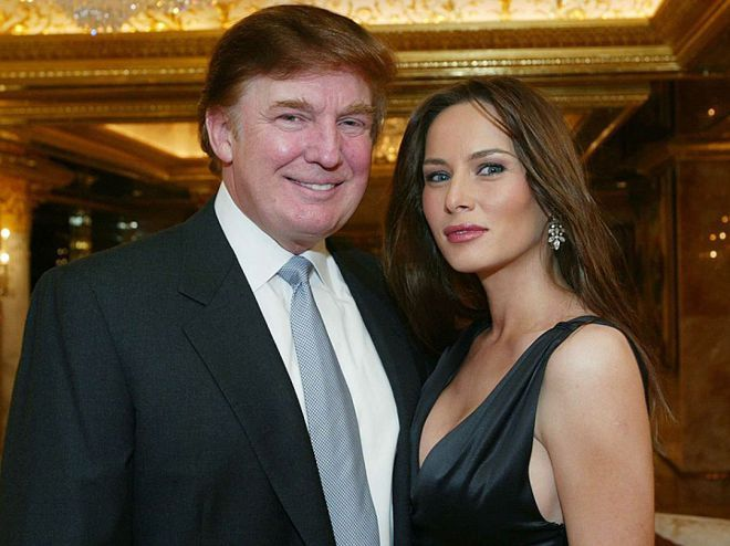 Дональд и Мелания Трамп в 2003 году