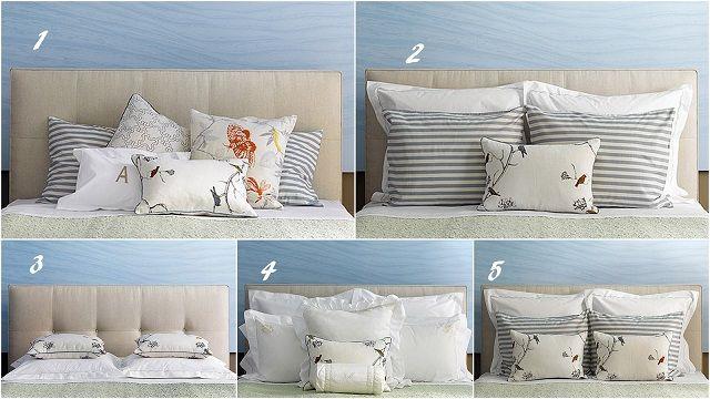 5 modi per disporre i cuscini sul letto FOTO  Home