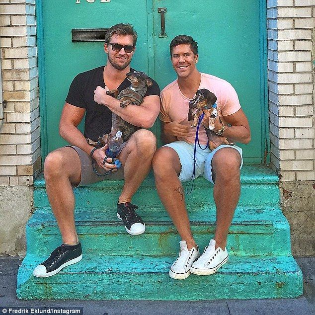 Real Estate star Fredrik Eklund married artist Derek Kaplan in 2013 and the couple live in New York with their dogs Mouse and Fritzy