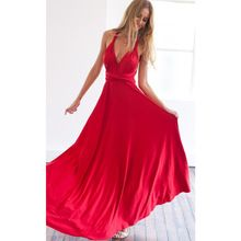 New Winter Sexy Women Maxi Dress Red Beach Long Dress Multiway Bridesmaids Convertible Wrap Party Dresses Robe Longue Femme(China (Mainland))