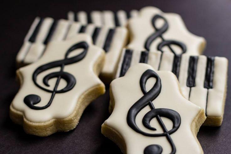 Kit's Cookies, Piano Teacher Thank You Cookies, Sugar Cookies