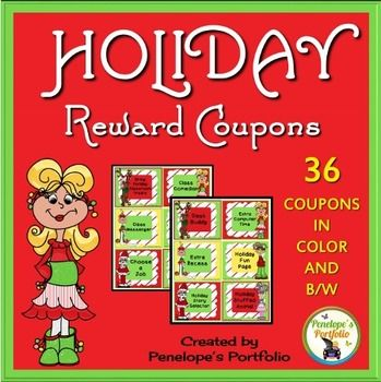 Coupons reward system also included are 6 additional blank coupons