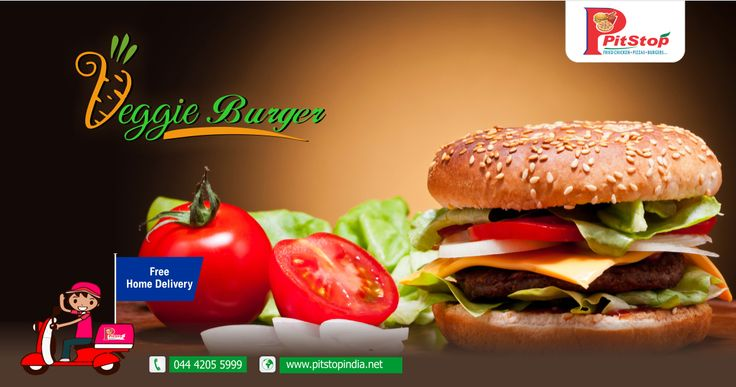 Order tasty veg #burger online @ pitstopindia.net, For free home delivery call 044 4205 5999