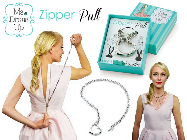 Zip up your dress on your own! Then wear as an elegant necklace! #zipperpull #msdressup