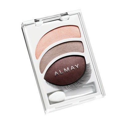 Almay Intense i-color #404 smoky-i for greens. The lid color in the crease blended with Urban Decay's Buck eyeshadow (from the first Naked Palette) make a great plum color for green eyes and you don't look like you've been punched in the face. The middle color on the lid. My Holy Grail smoky look for green/hazel eyes!
