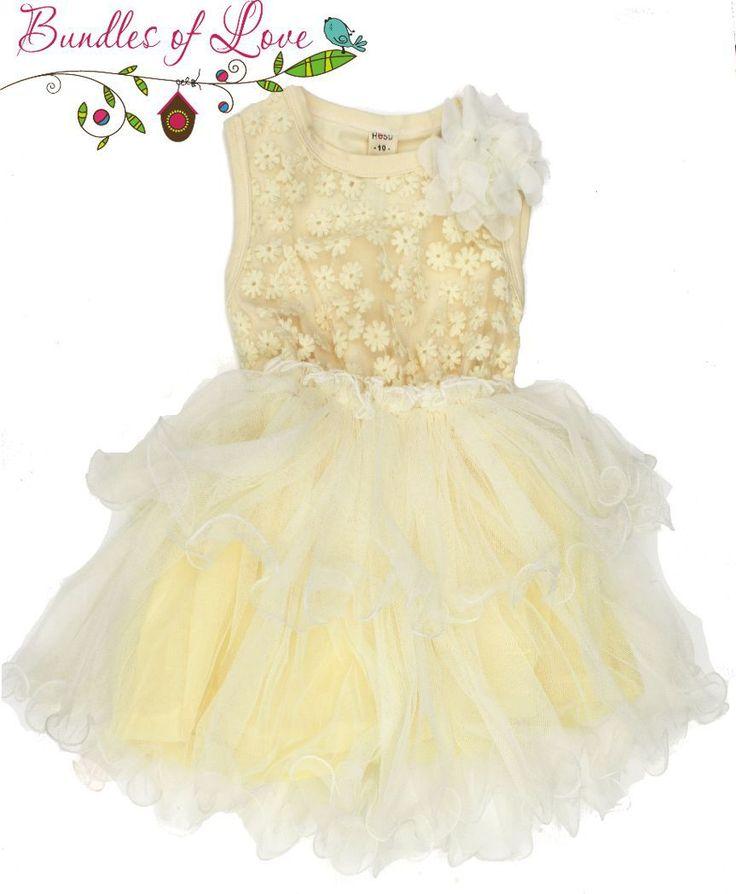 Bundles of Love - Girls Tutu Dress Vintage Flower Lemon - Sizes 2,3,4, $22.00 (http://www.bundlesoflove.com.au/girls-tutu-dress-vintage-flower-lemon-sizes-2-3-4/)