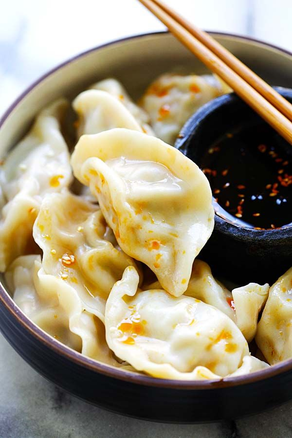 Pork Shrimp and Napa Cabbage Dumplings – juicy dumplings filled with pork, shrimp and napa cabbage. The easiest homemade dumplings recipe ever   rasamalaysia.com
