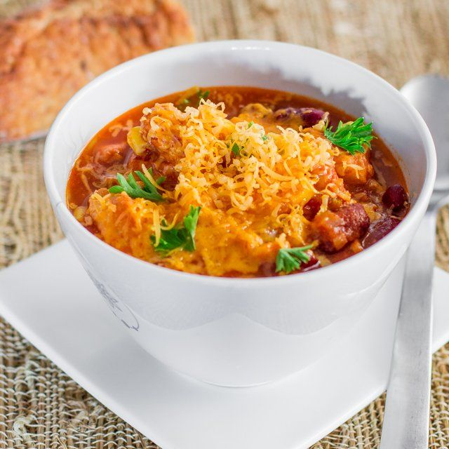 Slow Cooker Chicken Chili - Jo Cooks