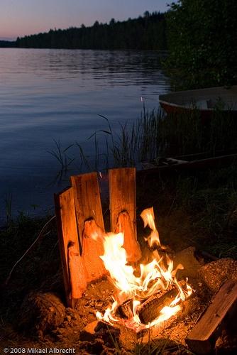 Blazed salmon - loimulohi, a special Finnish treat.