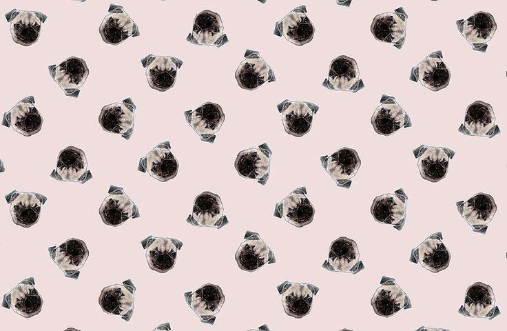 pink pug pattern by -vovs-