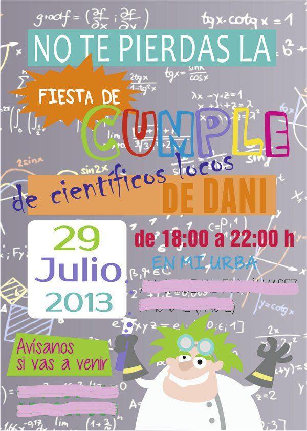 invitacion-cumpleaños-cientificos-locos_PintandoUnaMama