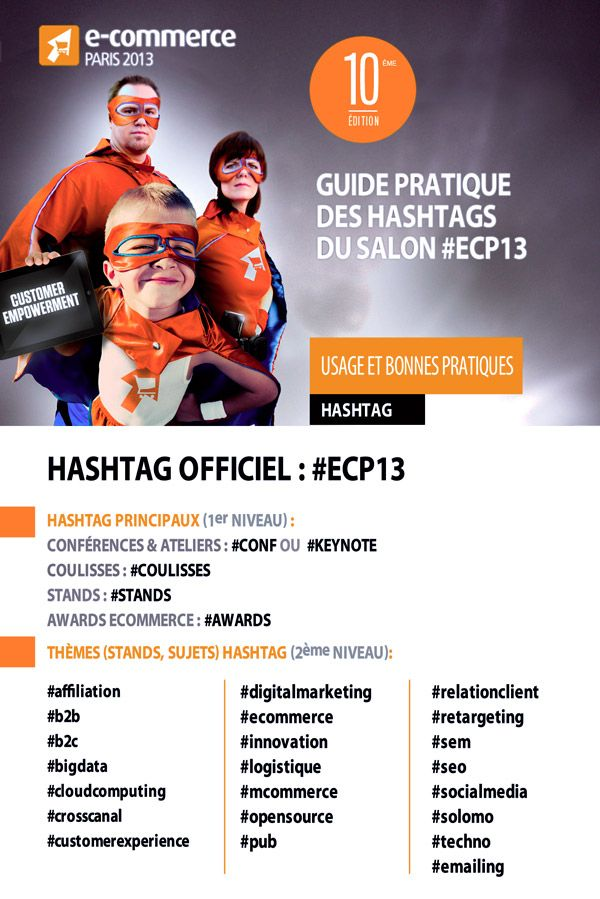 Les #Hashtags officiels du salon E-Commerce Paris 2013 #ECP13