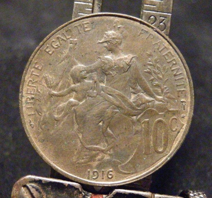 1916 France coin Republique Francaise • Liberte Egalite Fraternite 10 C