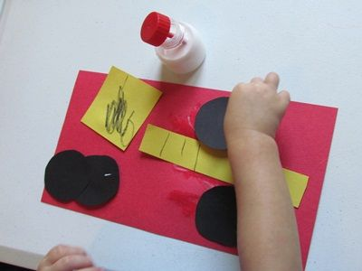 make a fire truck - preschool