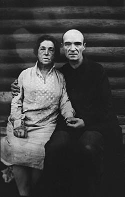 Undated photo of Russian artist Pavel Filonov with unspecified woman.