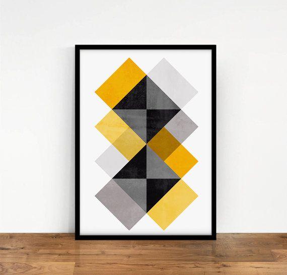 Las 25 mejores ideas sobre arte abstracto geometrico en - Laminas y posters decorativos ...