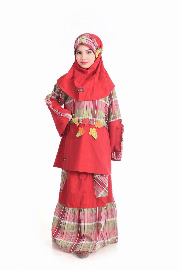 HS-GA07 (1 Setel Gamis+Jilbab) Merah - ButikMuslim69.com