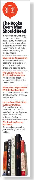 Books Every Man Should Read. Clipped from Esquire using Netpage.