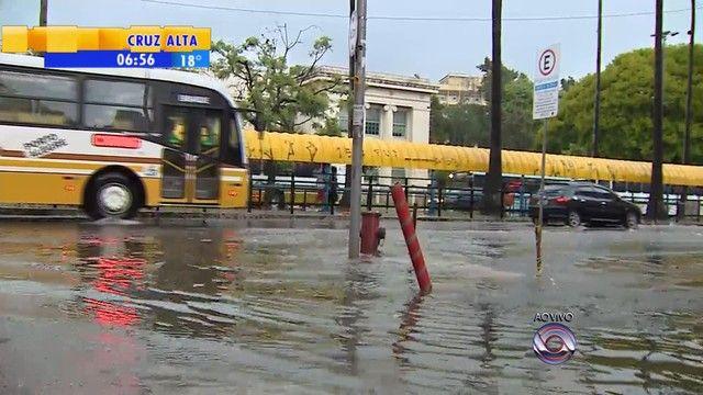 Chuva forte em pontos de Porto Alegre causa transtornos +http://brml.co/1w6X7eF