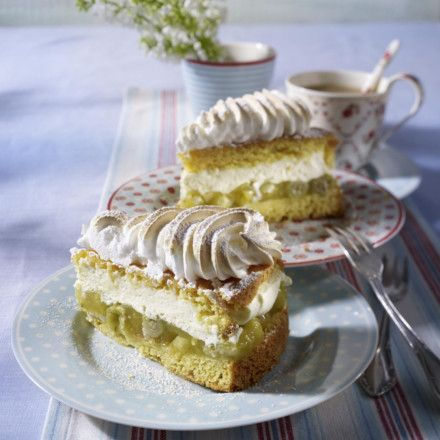 Stachelbeer baiser torte marzipan