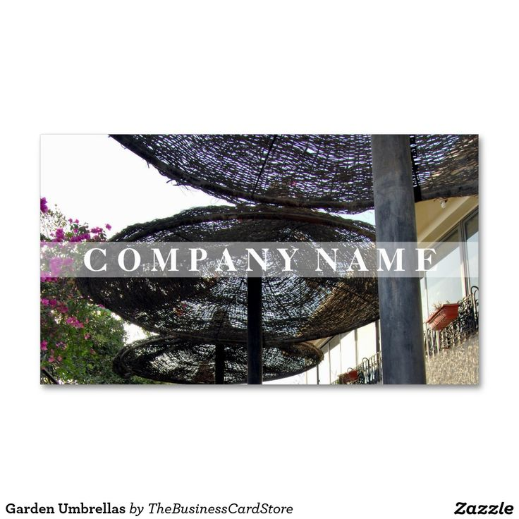 Garden Umbrellas Business Card
