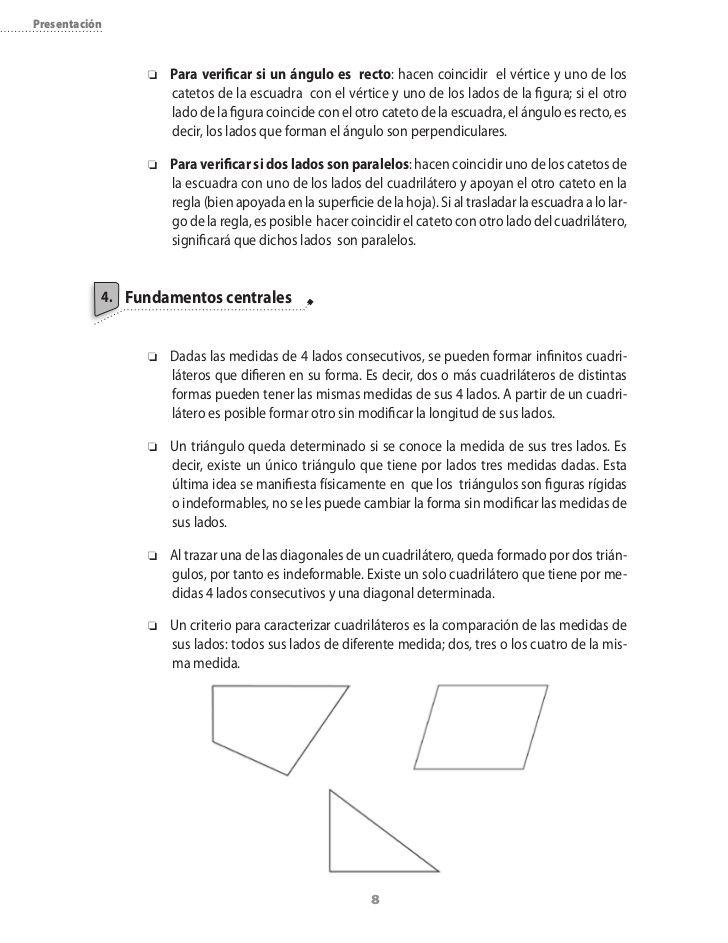 Cuadrilateros 4 Bas Actividades De Geometría Cuadrilateros Actividades
