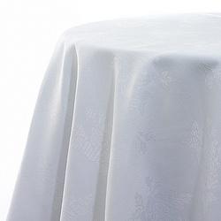 Plain white napkins? Opt for white damask instead.  Subtle pattern, but still traditional!