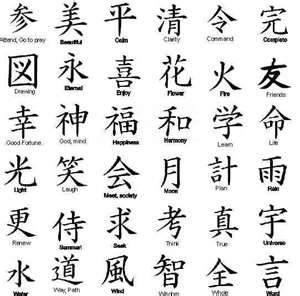 Kanji Symbol For Happy Family Tattoo