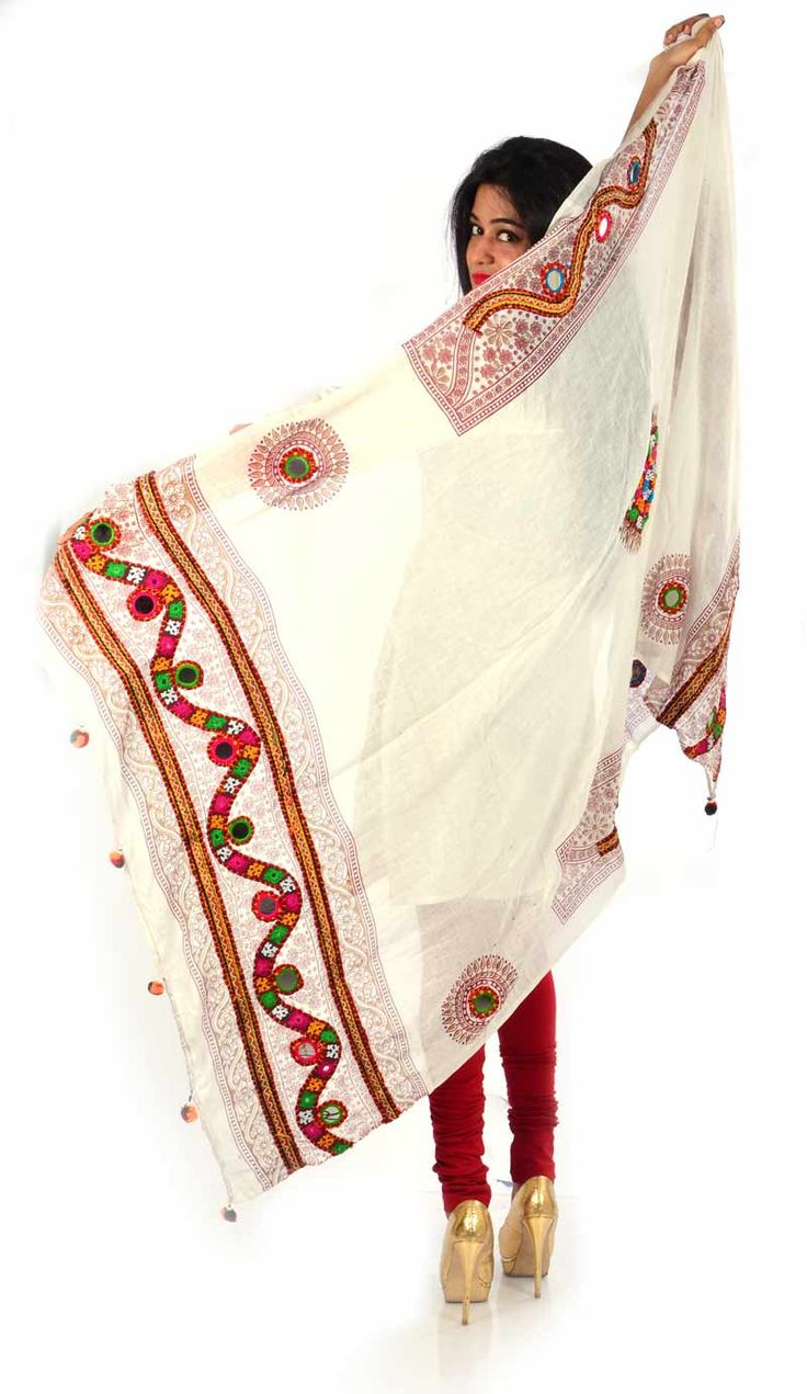 Styleincraft Handwork cotton White designer Dupatta. This combination is unique mix and match embroidery work and block printing. you can find our best collection in Dupattas. This is Traditional work dupattas wear on multiple dresses as multi color thread embroidery work on it.  #Buyhandbagsonline #HandmadeHandbags #Authenticdesignerhandbags #Womenswallets #Pursesonline #Handmadeitems #Styleincraft
