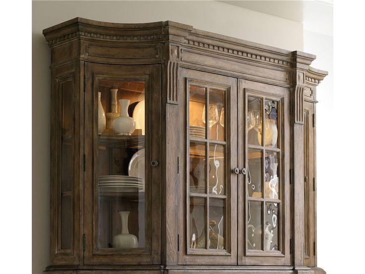 Aspenhome Warm Cherry Executive Modular Home Office: Hooker Furniture Sorella Four Door Hutch 5107-75901