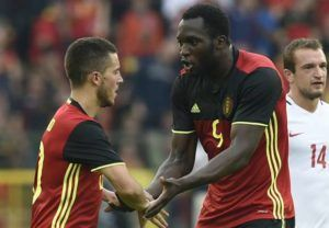 Belgiums Eden Hazard asked about possibility of Romelu Lukaku joining him at Chelsea (Video)
