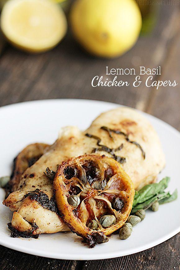Lemon Basil Chicken & Capers