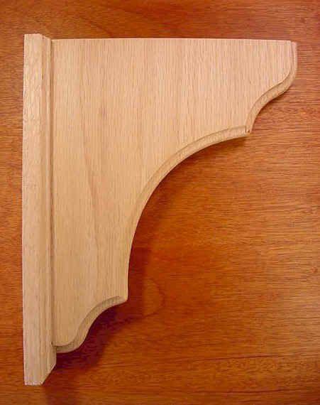 Craft Supplies Wooden Shelf Brackets