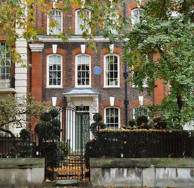 Author George Eliot's (Mary Anne Evans) former home in Cheyne Walk, Chelsea, London