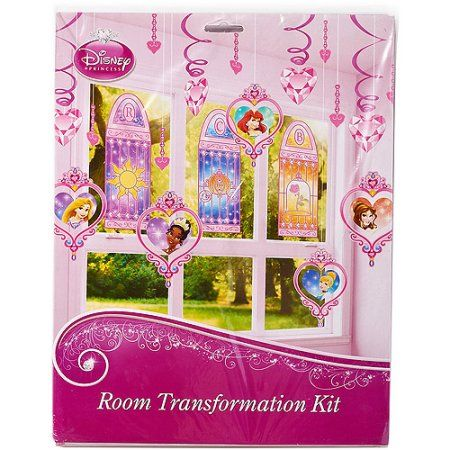Disney Princess Room Decorating Kit, Value Pack, Party Supplies, Pink