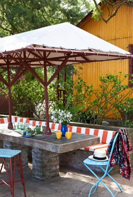 """This relaxed outside area is from our feature """"Life is a Beach"""""""